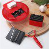 Creative Round Stainless Steel Multi-Function Vegetable Cutter - RED
