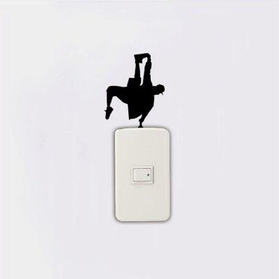 KG-220 Hip Hop Dancer Grabbing Foot On Light Switch Bedroom Home DecorWall Stickers<br>KG-220 Hip Hop Dancer Grabbing Foot On Light Switch Bedroom Home Decor<br><br>Art Style: Plane Wall Stickers, Toilet Stickers<br>Color Scheme: Black<br>Effect Size (L x W): 8.2 x 10.2cm<br>Function: Light Switch Stickers, Decorative Wall Sticker<br>Layout Size (L x W): 8.2 x 10.2cm<br>Material: Vinyl(PVC)<br>Package Contents: 1 x Wall Sticker<br>Package size (L x W x H): 15.00 x 12.00 x 1.00 cm / 5.91 x 4.72 x 0.39 inches<br>Package weight: 0.0200 kg<br>Product size (L x W x H): 8.20 x 10.20 x 0.01 cm / 3.23 x 4.02 x 0 inches<br>Product weight: 0.0100 kg<br>Quantity: 1<br>Sizes: Others<br>Subjects: Fashion,Vintage,Others,Letter,Cute,Cartoon,Music,Famous,Romance<br>Suitable Space: Living Room,Hotel,Kids Room,Pathway,Kids Room,Boys Room,Girls Room,Game Room<br>Type: Plane Wall Sticker