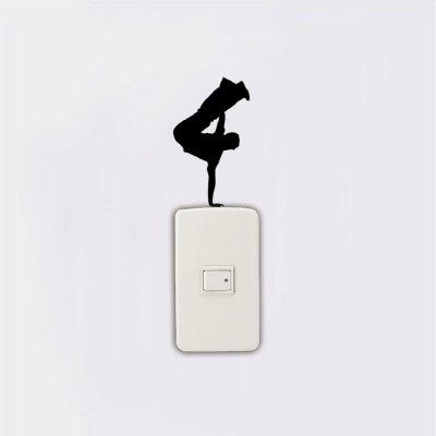 KG-223 Hip Hop Dancer One Handed Handstand On Light Switch Sticker Home DecorWall Stickers<br>KG-223 Hip Hop Dancer One Handed Handstand On Light Switch Sticker Home Decor<br><br>Art Style: Plane Wall Stickers, Toilet Stickers<br>Color Scheme: Black<br>Effect Size (L x W): 6.7 x 11.4cm<br>Function: Light Switch Stickers, Decorative Wall Sticker<br>Layout Size (L x W): 6.7 x 11.4cm<br>Material: Vinyl(PVC)<br>Package Contents: 1 x Wall Sticker<br>Package size (L x W x H): 15.00 x 8.00 x 1.00 cm / 5.91 x 3.15 x 0.39 inches<br>Package weight: 0.0200 kg<br>Product size (L x W x H): 6.70 x 11.40 x 0.01 cm / 2.64 x 4.49 x 0 inches<br>Product weight: 0.0100 kg<br>Quantity: 1<br>Sizes: Others<br>Subjects: Fashion,Vintage,Others,Letter,Cute,Cartoon,Music,Famous,Romance<br>Suitable Space: Living Room,Hotel,Kids Room,Pathway,Kids Room,Boys Room,Girls Room,Game Room<br>Type: Plane Wall Sticker