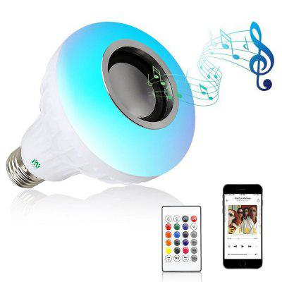 YWXLight E27/E26 Smart Wireless Bluetooth Speaker Music Playing Colorful LED Bulb AC 100 - 240V