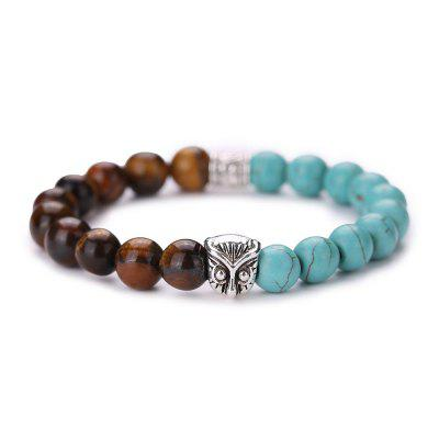 MGS1018 Owl Natural Turquoise Bracelet