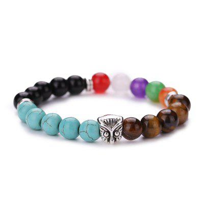 MGS1020 Fashion Colorful Natural Agate Bracelet