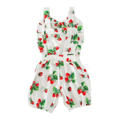 SOSOCOER Newborn Infant Girls Bodysuits Strawberry Print Halter Straps Baby Romperbaby rompers<br>SOSOCOER Newborn Infant Girls Bodysuits Strawberry Print Halter Straps Baby Romper<br><br>Brand: SOSOCOER<br>Closure Type: Pullover<br>Collar: Round Neck<br>Color: White<br>Gender: Girl<br>Material: Cotton<br>Package Contents: 1 x Romper<br>Season: Summer<br>Sleeve Length: Sleeveless<br>Sleeve Style: Tank<br>Style: Sweet<br>Thickness: General<br>Weight: 0.1300kg