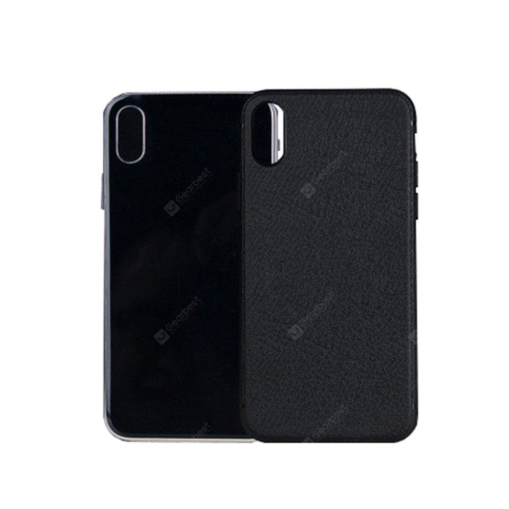 Custodia protettiva in TPU Business Lichee Pattern per iPhone X