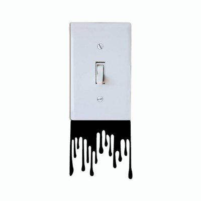 Buy DSU Creative Melt the Switch Sticker Funny Cartoon Vinyl Wall Sticker Home Decor, BLACK, Home & Garden, Home Decors, Wall Art, Wall Stickers for $1.43 in GearBest store