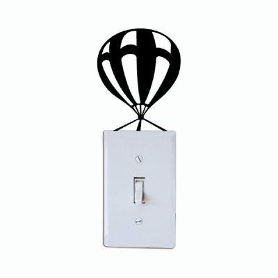 Buy Creative Parachute Light Switch Sticker Funny Cartoon Silhouette Vinyl Wall Decal, BLACK, Home & Garden, Home Decors, Wall Art, Wall Stickers for $1.43 in GearBest store