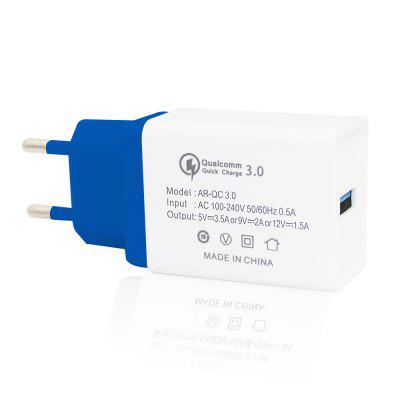Minismile Universal Travel 18W QC3.0 Quick Charge Power Adapter Wall Charger EU Plug