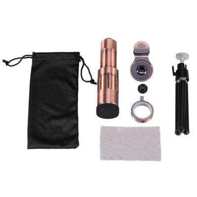 Universal Cellphone Camera Lens Kit Telephoto Lens 20X Optical Zoom Telescope w/ Clip & Tripod
