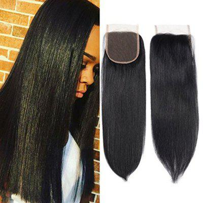 4 x 4 Free Part Brazilian Straight Lace Top Closure Unprocessed Human Hair Bleached Knots 10 inch