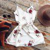 Fashion Sexy Casual Deep V-neck Floral Print Mini Dresses - WHITE
