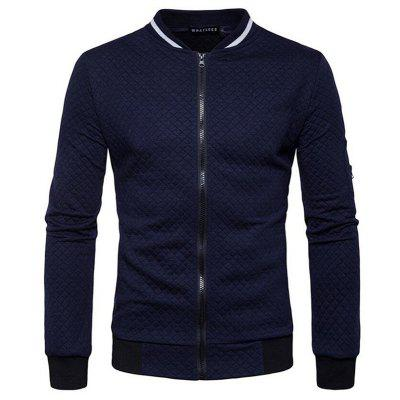 Mens Daily Simple Casual Spring Fall Stand Long Sleeve JacketMens Jackets &amp; Coats<br>Mens Daily Simple Casual Spring Fall Stand Long Sleeve Jacket<br><br>Clothes Type: Jackets<br>Collar: Stand Collar<br>Fabric Type: Broadcloth<br>Material: Cotton Blends<br>Package Contents: 1 x Jacket<br>Season: Spring, Fall<br>Shirt Length: Regular<br>Sleeve Length: Long Sleeves<br>Style: Casual<br>Weight: 0.4500kg