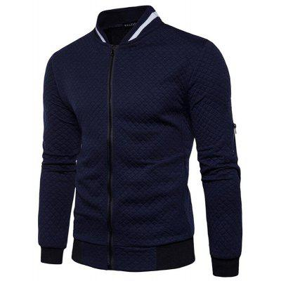 Men's Daily Simple Casual Spring Fall Stand Long Sleeve Jacket