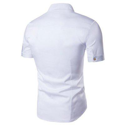 Mens Daily Casual Summer Standing Collar Short Sleeves ShirtMens Shirts<br>Mens Daily Casual Summer Standing Collar Short Sleeves Shirt<br><br>Collar: Turn-down Collar<br>Fabric Type: Polyester<br>Material: Cotton, Cotton Blends<br>Package Contents: 1 x Shirt<br>Shirts Type: Casual Shirts<br>Sleeve Length: Full<br>Weight: 0.2400kg