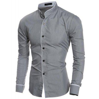Mens  Casual Shirt Long Sleeve Stand Collar Regular Fit ShirtsMens Shirts<br>Mens  Casual Shirt Long Sleeve Stand Collar Regular Fit Shirts<br><br>Collar: Mandarin Collar<br>Fabric Type: Polyester<br>Material: Cotton, Polyester, Cotton Blends<br>Package Contents: 1 x Shirt<br>Shirts Type: Casual Shirts<br>Sleeve Length: Full<br>Weight: 0.2000kg