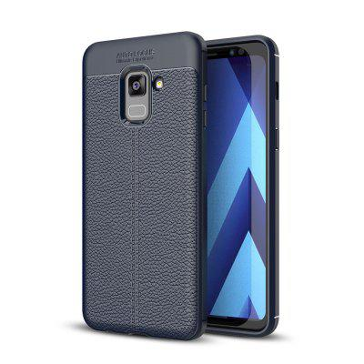 Case for Samsung Galaxy A8 (2018) Shockproof Back Cover Solid Color Soft TPU