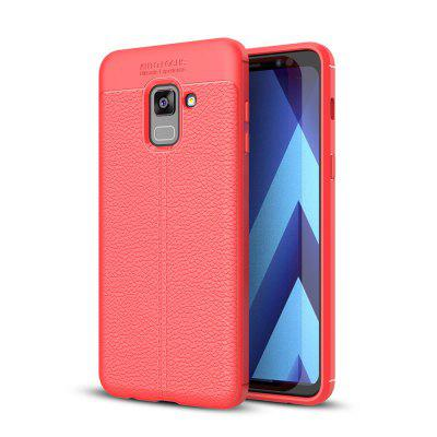 Case for Samsung Galaxy A8 Plus (2018) Shockproof Back Cover Solid Color Soft TPU