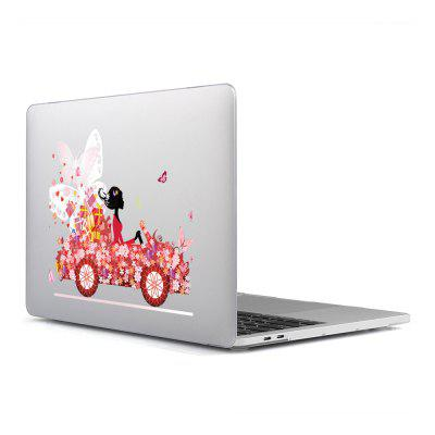 Computer Shell Laptop Case Superficie de la película del teclado + Low para MacBook Air 11.6 pulgadas 3D Pink Car 19