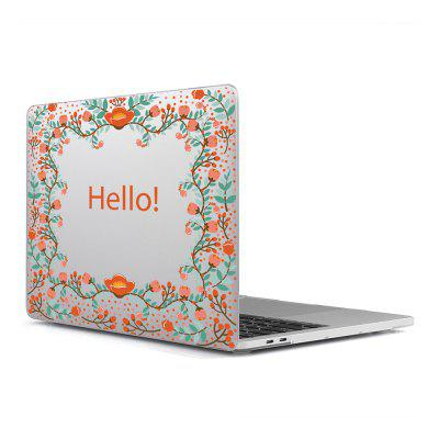 Computer Shell Laptop Case Superficie de la película del teclado + bajo para MacBook Air 11.6 pulgadas 3D Flower 20