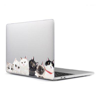Computer Shell Laptop Case Keyboard Film Surface + Low for MacBook Air 13.3 inch 3D Cat Series 3
