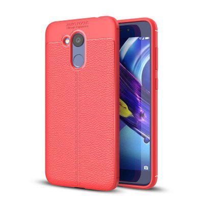 Cover Case for Huawei Honor V9 Play Luxury Original Shockproof Armor Soft Leather Carbon TPU
