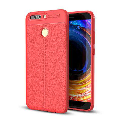 Cover Case for Huawei Honor V9 / 8 Pro Luxury Original Shockproof Armor Soft Leather Carbon TPU