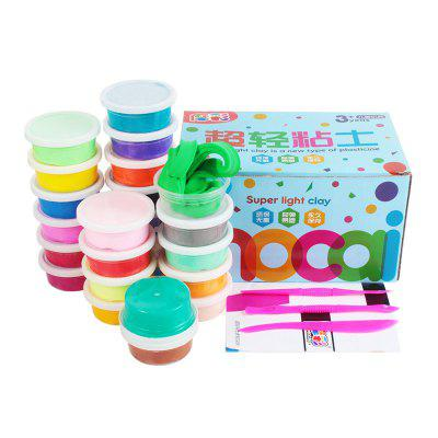 24 Colors Ultra Light Modeling Clay Magic DIY Creative Modeling Dough with Project Booklet 24PCS