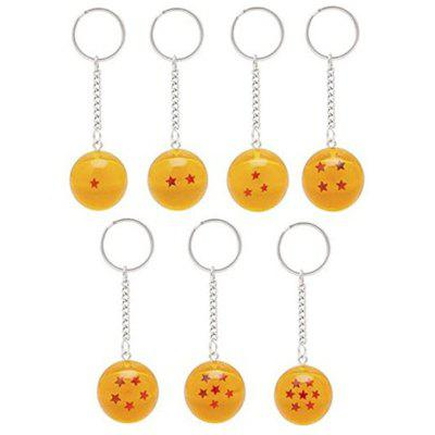 2.5cm 7 Stars Crystal Balls Set Keychain Keyring Pendant 7PCSKey Chains<br>2.5cm 7 Stars Crystal Balls Set Keychain Keyring Pendant 7PCS<br><br>Design Style: Fashion<br>Gender: Unisex<br>Materials: Acrylic, Crystal<br>Package Contents: 7 x Crystal Ball<br>Package size: 15.00 x 10.00 x 10.00 cm / 5.91 x 3.94 x 3.94 inches<br>Package weight: 0.1000 kg<br>Stem From: Japan<br>Theme: Movie and TV