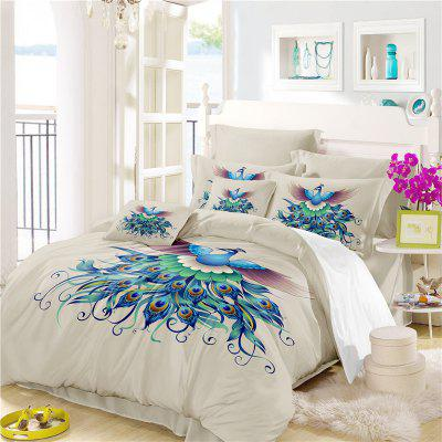 Embroidery Peacock Feathers Series Four Pieces of Bedding SK13Bedding Sets<br>Embroidery Peacock Feathers Series Four Pieces of Bedding SK13<br><br>Category: Bedding Set<br>For: All<br>Functions: Multi-functions<br>Material: Cotton, Polyester<br>Occasion: School, Bedroom<br>Package Contents: 1 x Duver Cover,2 x Pillowcases,1 x Bed Sheet<br>Package size (L x W x H): 28.00 x 26.00 x 5.00 cm / 11.02 x 10.24 x 1.97 inches<br>Package weight: 2.1500 kg