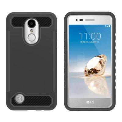 for LG K20 Plus / K2O V / K10 2017  Hard PC Flexible TPU Laminated Carbon Fiber Chrome Anti-scratch Protective Cas