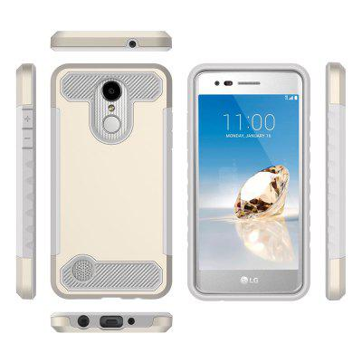 for LG LV3 / K8 2017 Shockproof Hard PC Flexible TPU Laminated Carbon Fiber Chrome Anti-scratch Protective CaseCases &amp; Leather<br>for LG LV3 / K8 2017 Shockproof Hard PC Flexible TPU Laminated Carbon Fiber Chrome Anti-scratch Protective Case<br><br>Features: Back Cover<br>Material: TPU, PC<br>Package Contents: 1 x Phone Case<br>Package size (L x W x H): 15.00 x 7.00 x 1.60 cm / 5.91 x 2.76 x 0.63 inches<br>Package weight: 0.5500 kg<br>Style: Contrast Color