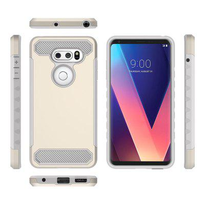 for LG V30 Shockproof Hard PC Flexible TPU Laminated Carbon Fiber Chrome Anti-scratch Protective CaseCases &amp; Leather<br>for LG V30 Shockproof Hard PC Flexible TPU Laminated Carbon Fiber Chrome Anti-scratch Protective Case<br><br>Features: Back Cover, Bumper Frame<br>Material: TPU, PC<br>Package Contents: 1 x Phone Case<br>Package size (L x W x H): 17.00 x 7.00 x 2.00 cm / 6.69 x 2.76 x 0.79 inches<br>Package weight: 0.0600 kg<br>Style: Contrast Color