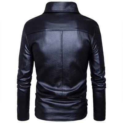 European Code Punk Style More Zipper Design Cable-Access Control Style Leather TideMens Jackets &amp; Coats<br>European Code Punk Style More Zipper Design Cable-Access Control Style Leather Tide<br><br>Clothes Type: Jackets<br>Collar: Turn-down Collar<br>Material: Faux Leather<br>Package Contents: 1?Coat<br>Season: Spring, Fall, Winter<br>Shirt Length: Regular<br>Sleeve Length: Long Sleeves<br>Style: Punk<br>Weight: 0.8500kg