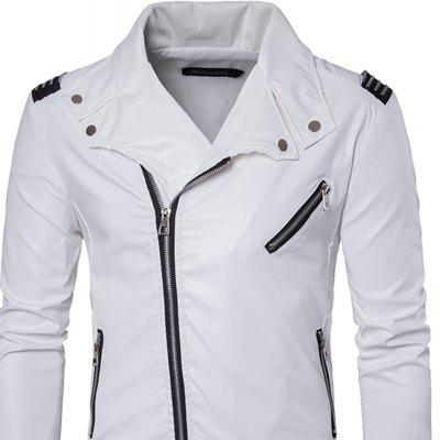 Mens Zipper Punk Large Lapel Fashion Casual Trend of Leather JacketMens Jackets &amp; Coats<br>Mens Zipper Punk Large Lapel Fashion Casual Trend of Leather Jacket<br><br>Clothes Type: Leather &amp; Suede<br>Collar: Turn-down Collar<br>Material: Polyester, Faux Leather<br>Package Contents: 1?Coat<br>Season: Spring, Fall, Winter<br>Shirt Length: Regular<br>Sleeve Length: Long Sleeves<br>Style: Punk<br>Weight: 0.6500kg