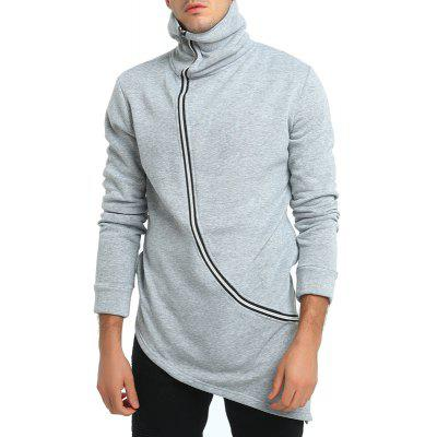 Irregular  Mens Long Zipper  JacketMens Hoodies &amp; Sweatshirts<br>Irregular  Mens Long Zipper  Jacket<br><br>Fabric Type: Broadcloth<br>Material: Cotton, Polyester<br>Package Contents: 1 X Jacket<br>Shirt Length: Regular<br>Sleeve Length: Full<br>Style: Casual<br>Weight: 0.4000kg