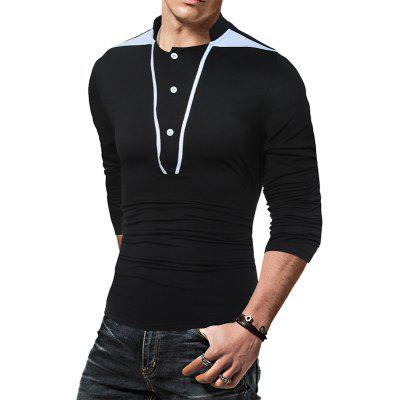 Fashion Color Decoration  Mens Long Sleeve T-ShirtMens T-shirts<br>Fashion Color Decoration  Mens Long Sleeve T-Shirt<br><br>Collar: Square Collar<br>Material: Cotton, Polyester<br>Package Contents: 1 X T-Shirt<br>Pattern Type: Solid<br>Sleeve Length: Full<br>Style: Fashion<br>Weight: 0.3000kg