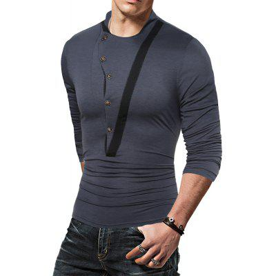 Fashion Leisure Color Decoration Mens Long Sleeve T-ShirtMens T-shirts<br>Fashion Leisure Color Decoration Mens Long Sleeve T-Shirt<br><br>Collar: Round Neck<br>Material: Cotton, Polyester<br>Package Contents: 1 X T-Shirt<br>Pattern Type: Solid<br>Sleeve Length: Full<br>Style: Fashion<br>Weight: 0.3000kg