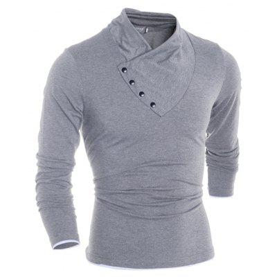 New V Collar Button Men Long Sleeved T-ShirtMens Long Sleeves Tees<br>New V Collar Button Men Long Sleeved T-Shirt<br><br>Collar: V-Neck<br>Material: Cotton, Polyester<br>Package Contents: 1 X T-shirt<br>Pattern Type: Solid<br>Sleeve Length: Full<br>Style: Fashion<br>Weight: 0.3000kg