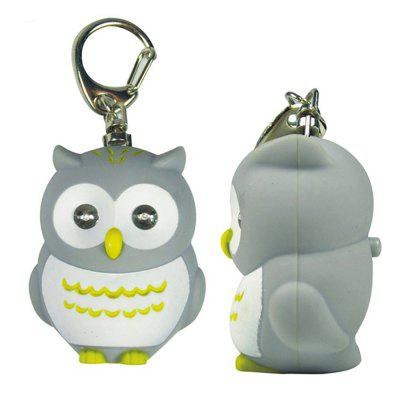 LED Owl Vocal Lighting Key Chain Creative Gift Animal PendantKey Chains<br>LED Owl Vocal Lighting Key Chain Creative Gift Animal Pendant<br><br>Design Style: Fashion<br>Gender: Unisex<br>Materials: ABS<br>Package Contents: 1 x Key Chain, 3 x Built-in Button Battery<br>Package size: 10.00 x 8.00 x 5.00 cm / 3.94 x 3.15 x 1.97 inches<br>Package weight: 0.0200 kg<br>Stem From: Other<br>Theme: Other