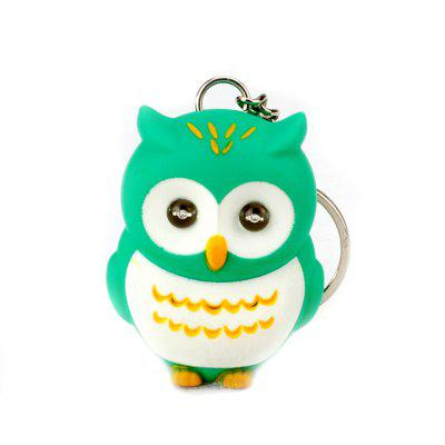 LED Owl Vocal Lighting Key Chain Creative Gift Animal Pendant
