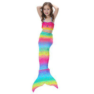 Childrens Mermaid Swimsuit Tail CostumeGirls swimwear<br>Childrens Mermaid Swimsuit Tail Costume<br><br>Package Contents: 1 x Swimsuit<br>Pattern Type: Argyle<br>Swimwear Type: Tankini<br>Waist: High Waisted<br>Weight: 0.4000kg