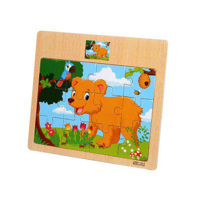 Children Jigsaw Puzzle Toy BearLogic &amp; Puzzle Toys<br>Children Jigsaw Puzzle Toy Bear<br><br>Gender: Boys,Girls<br>Materials: Wood<br>Package Contents: 1 x Jigsaw Puzzle<br>Package size: 17.00 x 0.50 x 15.00 cm / 6.69 x 0.2 x 5.91 inches<br>Package weight: 0.0700 kg<br>Product weight: 0.0600 kg<br>Stem From: Other<br>Style: Cartoon<br>Theme: Animals<br>Type: Jigsaw Puzzle