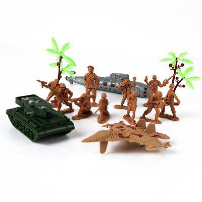 Children Military Model ToyMovies &amp; TV Action Figures<br>Children Military Model Toy<br><br>Completeness: Finished Goods<br>Gender: Boys,Girls,Kids<br>Materials: Plastic, ABS<br>Package Contents: 1 x Set of Model Toy<br>Package size: 17.00 x 4.00 x 21.50 cm / 6.69 x 1.57 x 8.46 inches<br>Package weight: 0.1000 kg<br>Product weight: 0.0900 kg<br>Stem From: Other<br>Theme: Military
