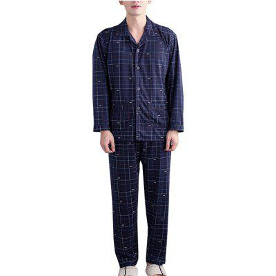Men's Cotton Sleep Set  Long Sleeve Soft Cozy Sleepwear