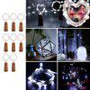 BRELONG 15LED Wine Stopper Brass Lights Decorative Light String 8PCS - WHITE LIGHT