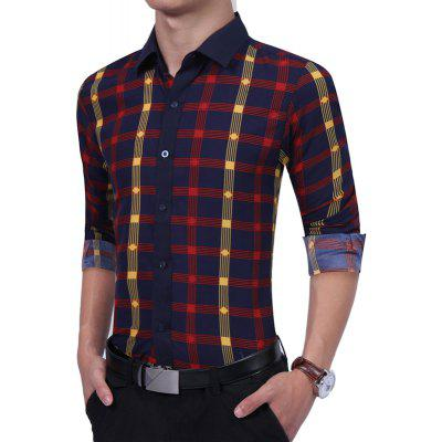Business Men Fashion Color Lattice Tide Male English Long Sleeved ShirtMens Shirts<br>Business Men Fashion Color Lattice Tide Male English Long Sleeved Shirt<br><br>Collar: Turn-down Collar<br>Material: Cotton, Polyester<br>Package Contents: 1 xShirt<br>Shirts Type: Casual Shirts<br>Sleeve Length: Full<br>Weight: 0.2500kg