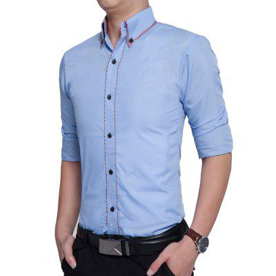 Business Color Long Sleeve ShirtMens Shirts<br>Business Color Long Sleeve Shirt<br><br>Collar: Turn-down Collar<br>Material: Cotton, Polyester<br>Package Contents: 1 x Shirt<br>Shirts Type: Casual Shirts<br>Sleeve Length: Full<br>Weight: 0.2500kg