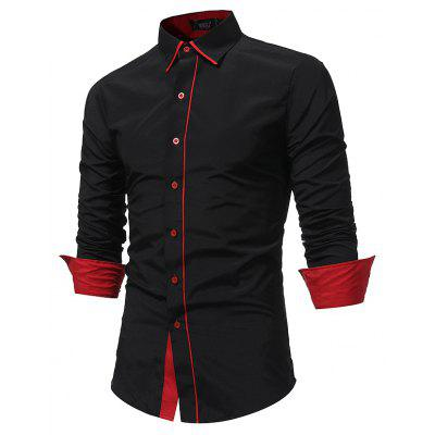Fashion Splice Business Long Sleeved ShirtMens Shirts<br>Fashion Splice Business Long Sleeved Shirt<br><br>Collar: Turn-down Collar<br>Material: Cotton, Polyester<br>Package Contents: 1 xShirt<br>Shirts Type: Casual Shirts<br>Sleeve Length: Full<br>Weight: 0.2500kg