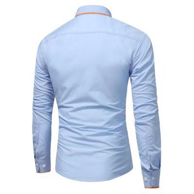 All-Match Fashion Leisure ShirtMens Shirts<br>All-Match Fashion Leisure Shirt<br><br>Collar: Turn-down Collar<br>Material: Cotton, Polyester<br>Package Contents: 1 xShirt<br>Shirts Type: Casual Shirts<br>Sleeve Length: Full<br>Weight: 0.2500kg