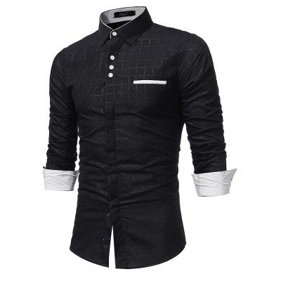 Casual Simplified Print ShirtMens Shirts<br>Casual Simplified Print Shirt<br><br>Collar: Turn-down Collar<br>Material: Cotton, Polyester<br>Package Contents: 1 x Shirt<br>Shirts Type: Casual Shirts<br>Sleeve Length: Full<br>Weight: 0.2500kg