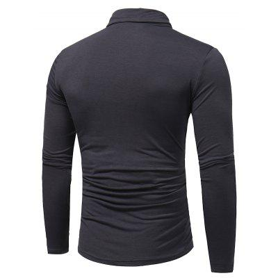 Pure Leisure Long Sleeved T-ShirtMens T-shirts<br>Pure Leisure Long Sleeved T-Shirt<br><br>Collar: Turtleneck<br>Material: Cotton, Polyester<br>Package Contents: 1 x T-shirt<br>Pattern Type: Others<br>Sleeve Length: Full<br>Style: Casual<br>Weight: 0.2500kg